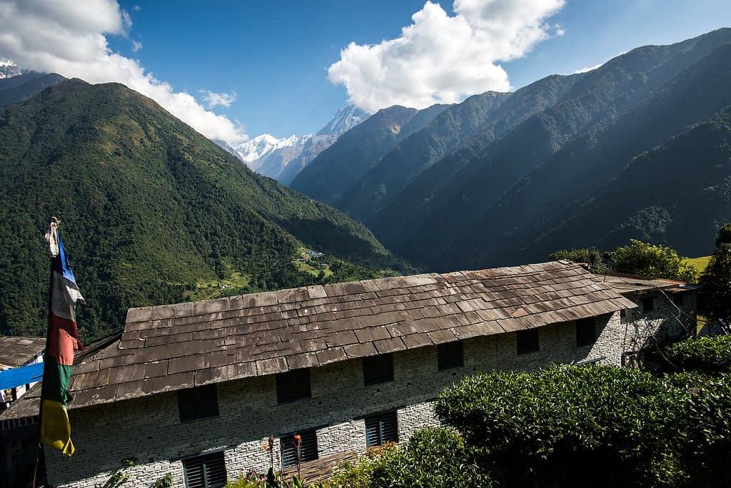 View from Chhomrong Village, Annapurna mountain range