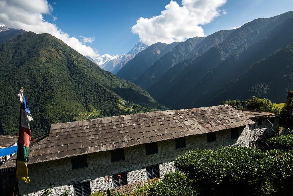 View from Chhomrong Village, Annapurna mountain range