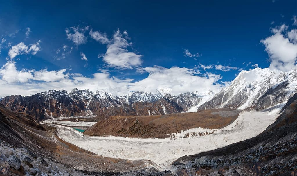 Manaslu circuit track in Nepal